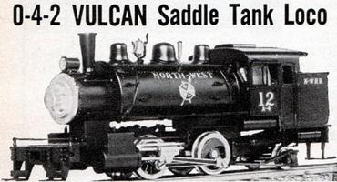 LMB Models Vulcan 0-4-2 tank engine ad 1960-01p12